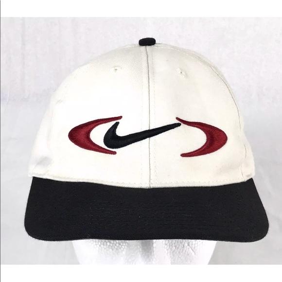 4cad3d4c0f2 Vintage Nike Swoosh Hat Cap Snapback Golf Made USA.  M 5abd8dc036b9de95556b5abf. Other Accessories ...